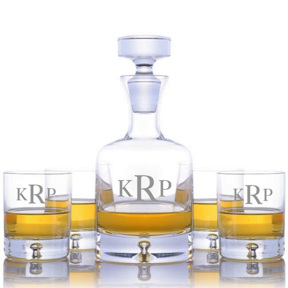 Ravenscroft Crystal Taylor Whiskey Decanter Set-Free Personalized ...