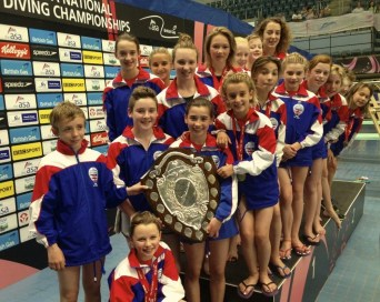 Diving awards at Crystal Palace Sports Centre 2014