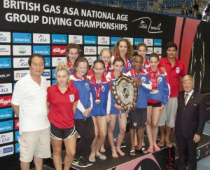 ASA National Age Groups 2014. Group Shot With Trophy
