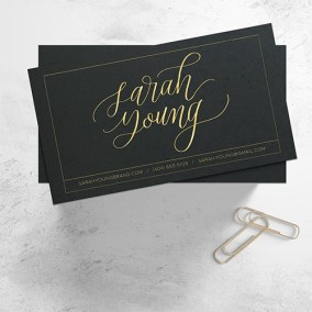 Sarah Young Business Card Calligraphy