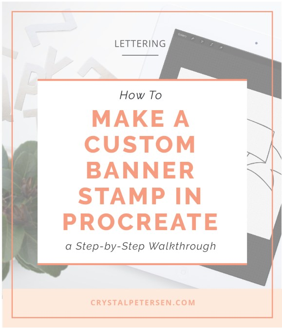 How to Make a Banner Stamp Brush in Procreate