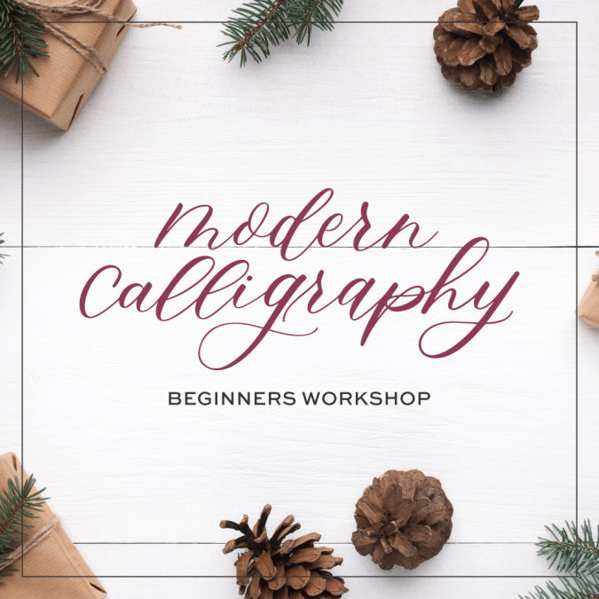 December's Modern Calligraphy Workshop at Atlantic Station
