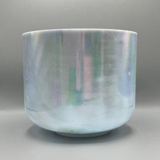 "Crystal Tones®  10"" G#-45 Egyptian Blue, Platinum Morph Bowl  Free Shipping"