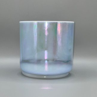 Crystal Tones®  6″ A#+50 Egyptian Blue, Platinum Bowl  Free Shipping