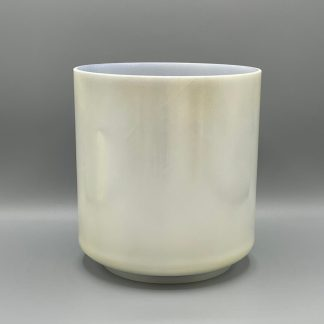 "Crystal Tones®  ON HOLD 7"" G#-45 Lemon Angel Gold, Ocean Indium (inside) Bowl  Free Shipping"