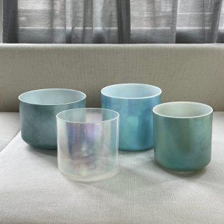 Crystal Tones®  ON HOLD Harmonised Healing Set – Clear Light Ocean Blue Joy  Free Shipping