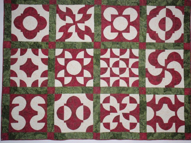 Drunkard's Path sampler quilt
