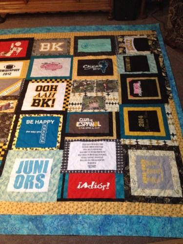 Kati's graduation quilt