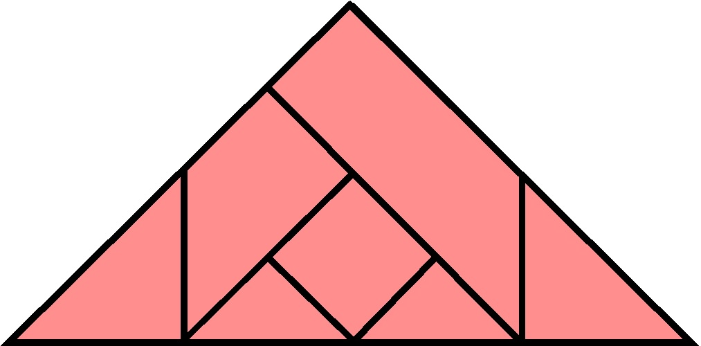 7 Piece Tangram Square Solution