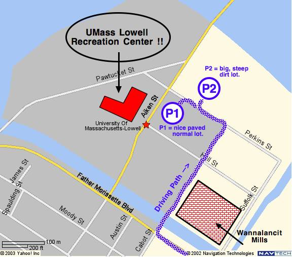 Uml North Campus Map