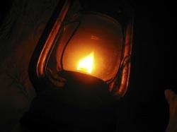 a glowing lantern