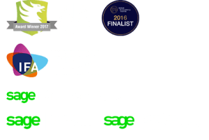 CS Accounting award and certification logos