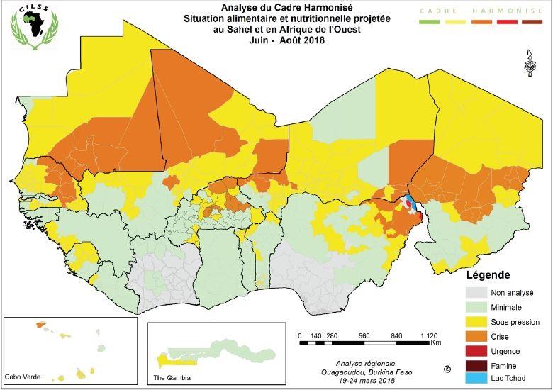 Analyse du cadre harmonisé situation alimentaire et nutritionnelle projetée au sahel et en Afrique de l'Ouest