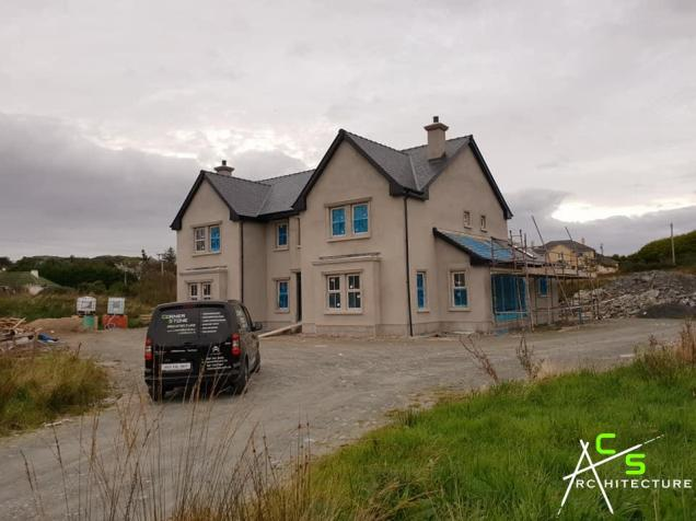 Site inspection of a new house in Killybegs