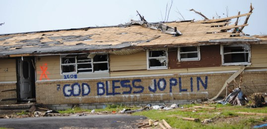 One of 8000 homes damaged in Joplin. Photo courtesy of CCC.