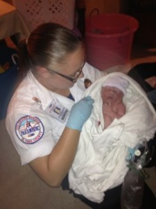 Paramedic Brittany Via and Baby Boyll