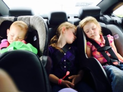 Oh, if only these three little girls were asleep with grandma.