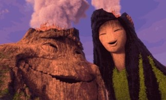 Uku and his love Lele together at last in Pixar Animation Studios' Lava Love.