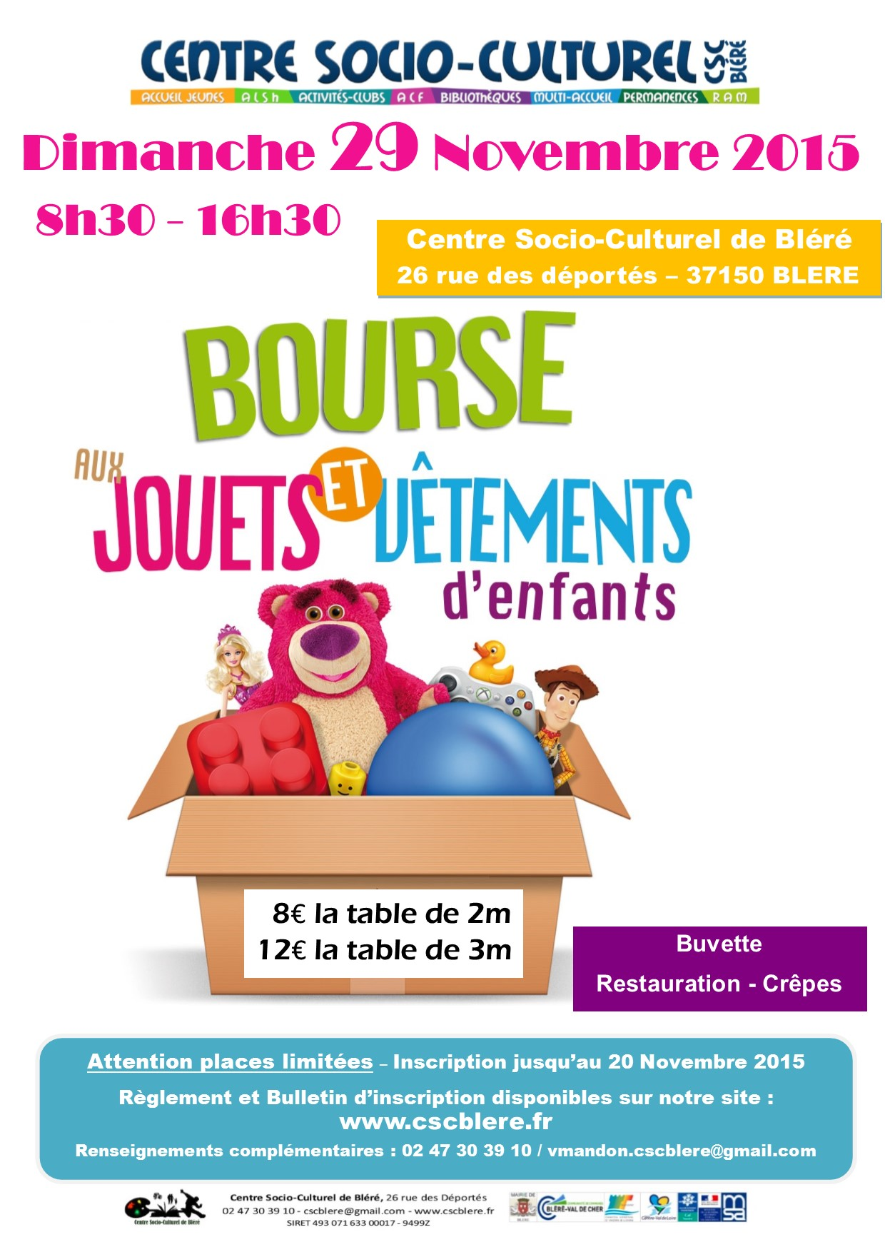 4me Bourse Aux Jouets Et Aux Vtements CSC Blr