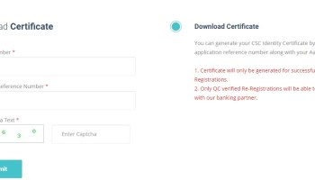 Download RAP Certificate Without Registration Number / OMT ID
