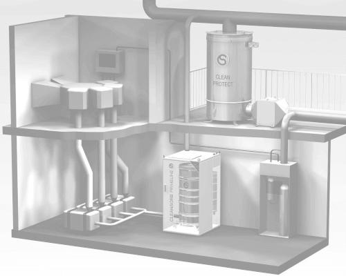 Abbildung Abgasreinigung, CS Clean Solutions Produkte für Schadgasbeseitigung