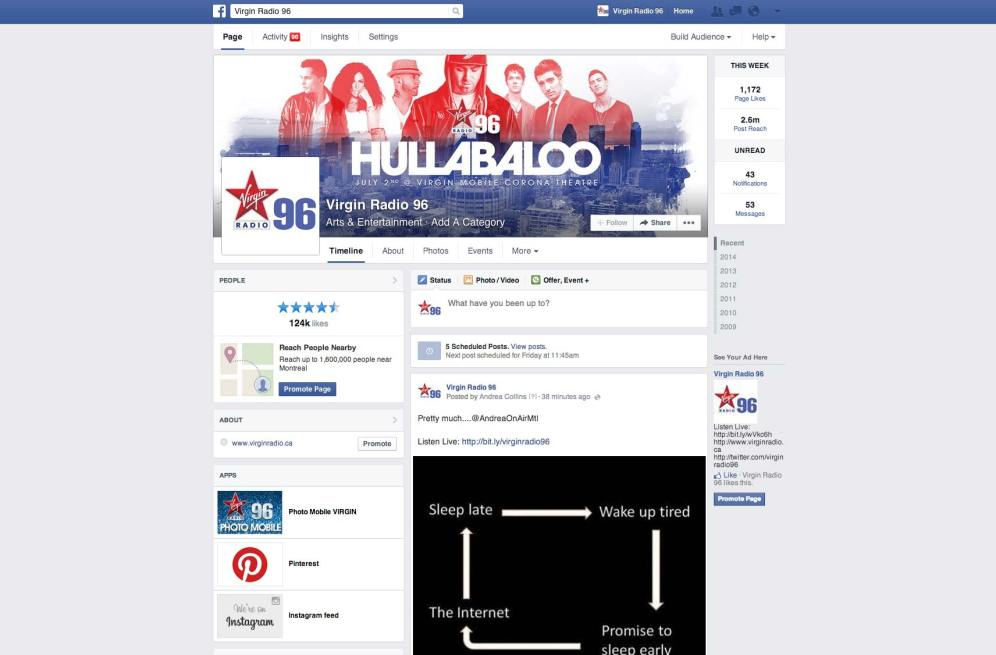 Virgin Radio's Hullabaloo - FB branding