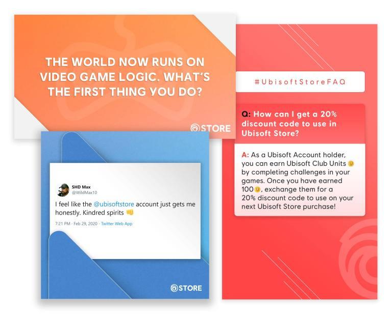 Ubisoft Store Social engagement images