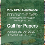 spas conf announce - 2017 School of Pacific and Asian Studies Conference Call for Papers