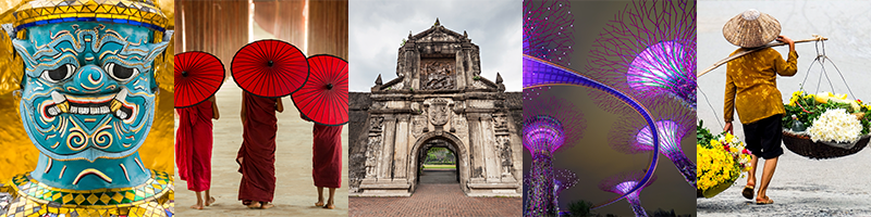 southeast asia photo collage