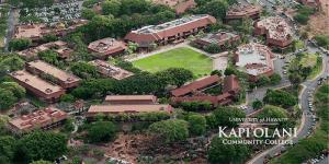 kapiolani community college aerial view