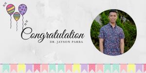 banner congrats Dr. Parba