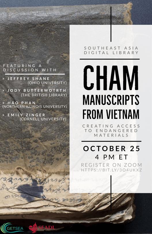Cham Manuscripts webinar flyer
