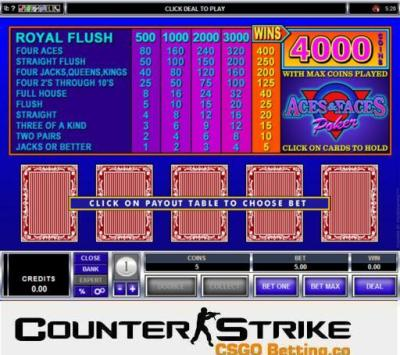 CS GO Aces and Faces Video Poker Games