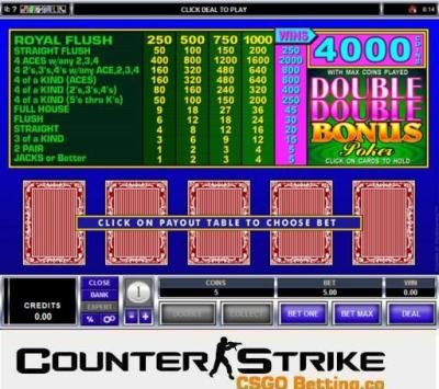 CS GO Double Double Bonus Video Poker Games