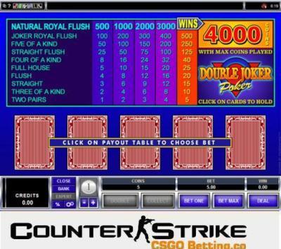 CS GO Double Joker Poker