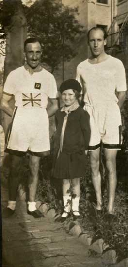 Eric Liddell, before the war, at right - courtesy Weihsien-Paintings