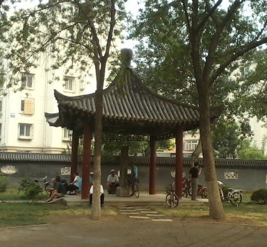 The Twin Paragon Sisters memorial stone still standing in Tianjin's Zhongshan Park - online sources