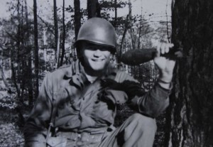 Private Glen W. Hornung, now a staff sergeant, in Germany after World War II