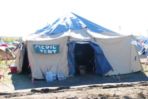 Medic tent outside of Red Warriors Camp - photo by C.S. Hagen