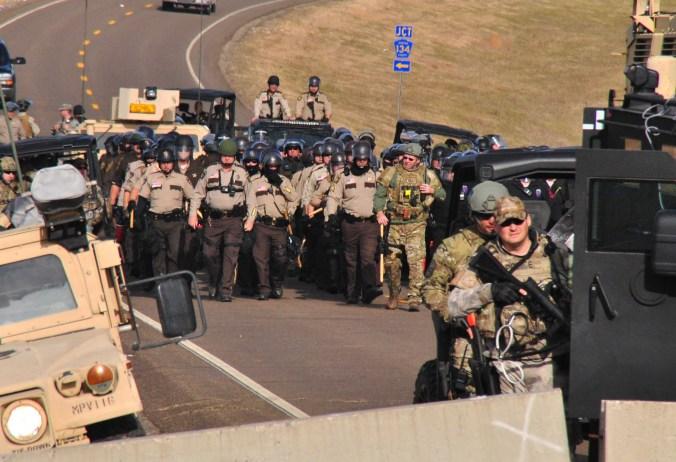 Law enforcement closing in - photo by C.S. Hagen