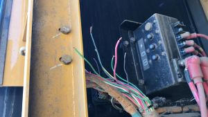 Cut wires on DAPL equipment - photo provided by Morton County Sheriff's Department