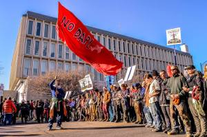 No DAPL activists in Bismarck - photo provided by Rob Wilson Photography