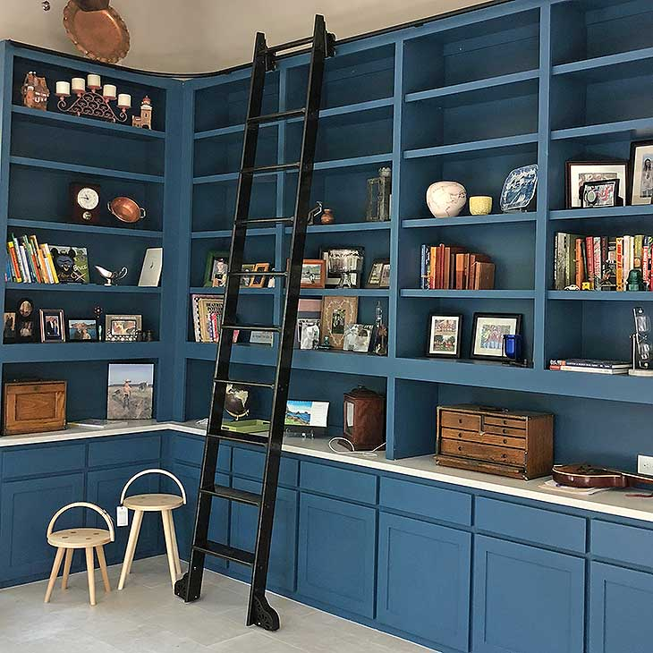 rolling library ladder custom service