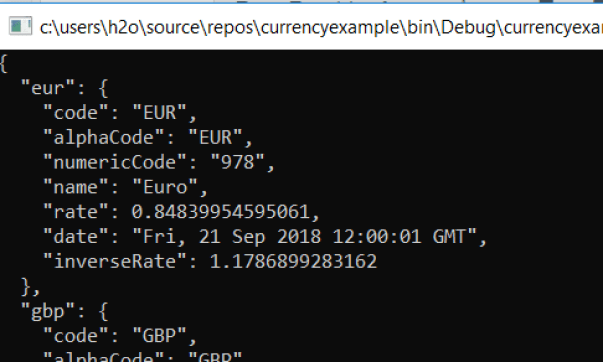 Dollar / Euro Currency Exchange Rate Convertor in C# using