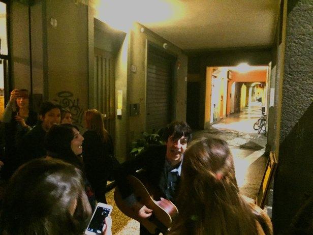 Luca Malatesta dei Doormen in preda ad un big Madchester