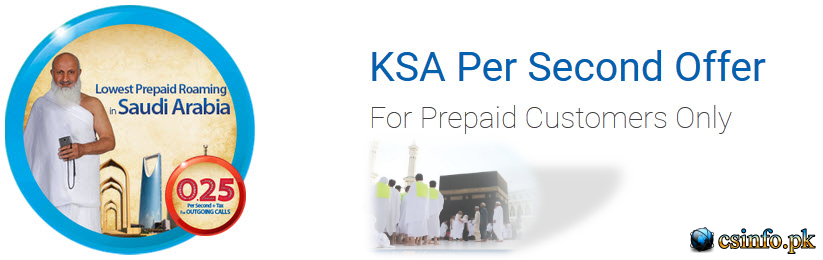 Zong Saudi Arabia Call Package - Zong Saudi Arabia Per Second Offer