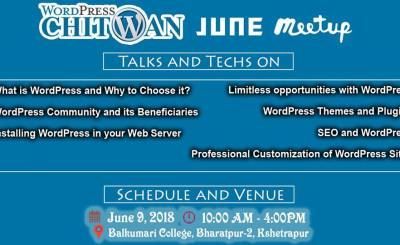 Wordpress June Meetup in Chitwan