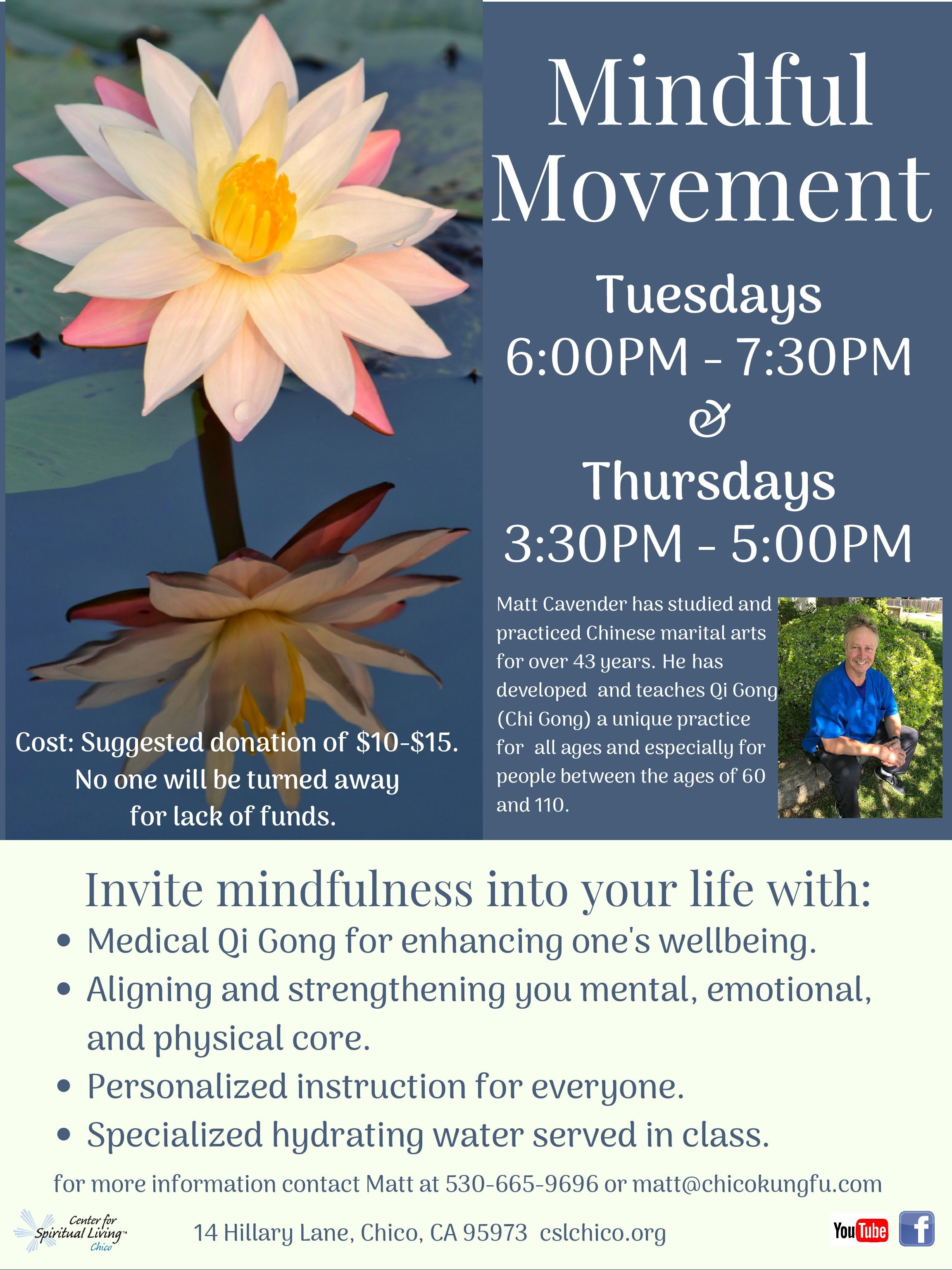 Mindful Movement Center For Spiritual Living Chico