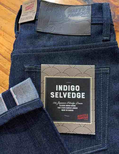 Naked & Famous Denim Weird Guy Tapered Leg Indigo Selvedge Jeans
