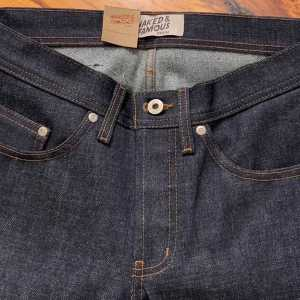 Naked & Famous Denim Deep Indigo Selvedge Weird Guy Tapered Leg Jeans